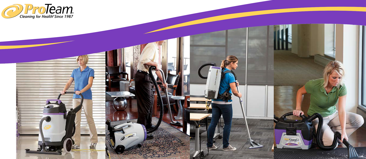 ProTeam floor cleaning equipment